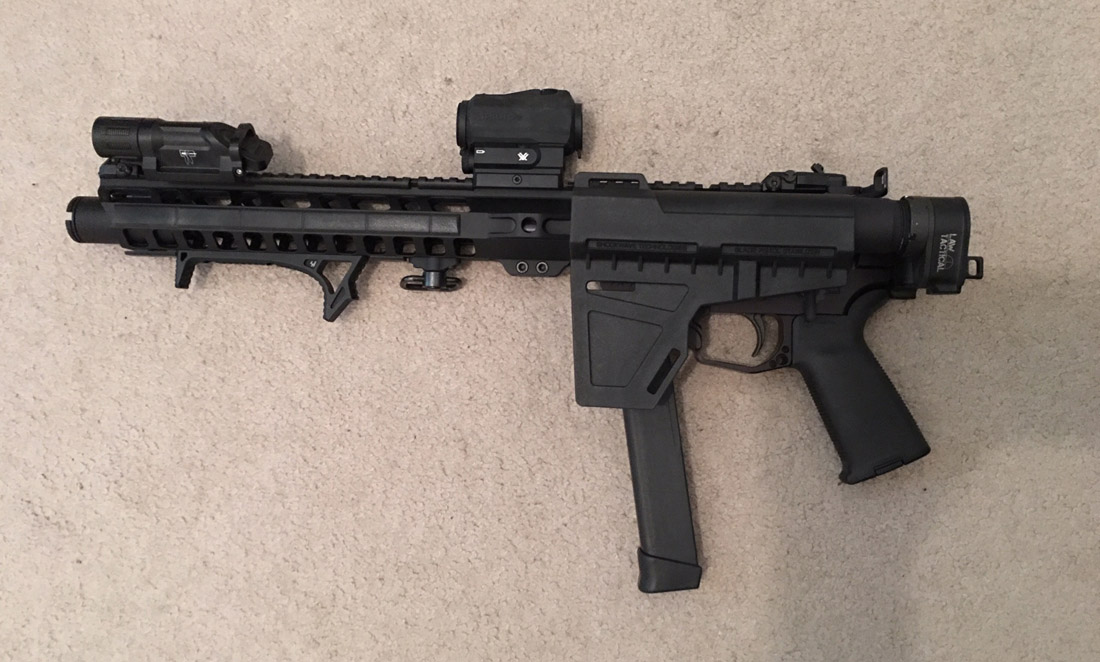 PSA 9mm AR15 FOLDED