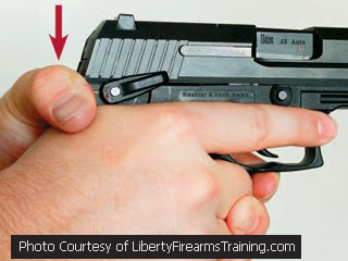 Train Tracks Incorrect Handgun Grip