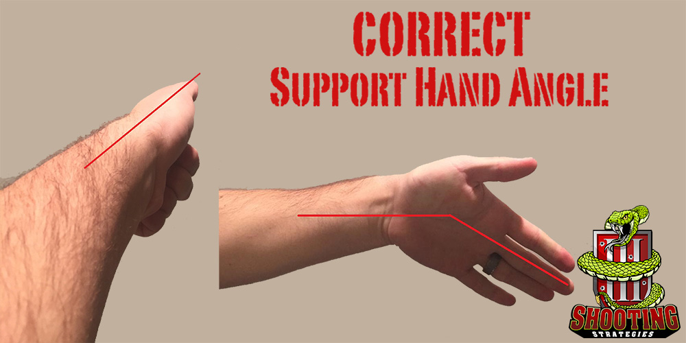 Correct Support Hand Grip Angle