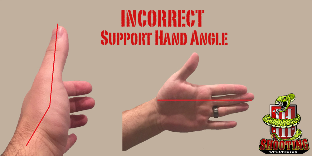 Incorrect Support Hand Grip Angle