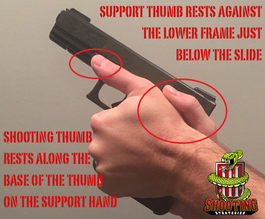 Thumb Placement Proper Handgun Grip