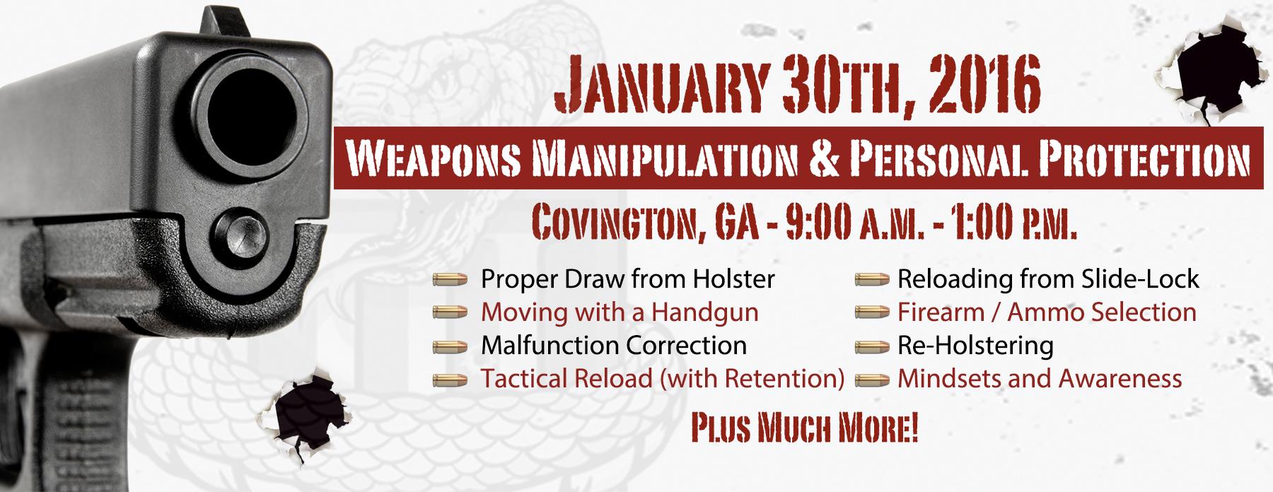 Weapons Manipulation Handgun Training - Atlanta Georgia