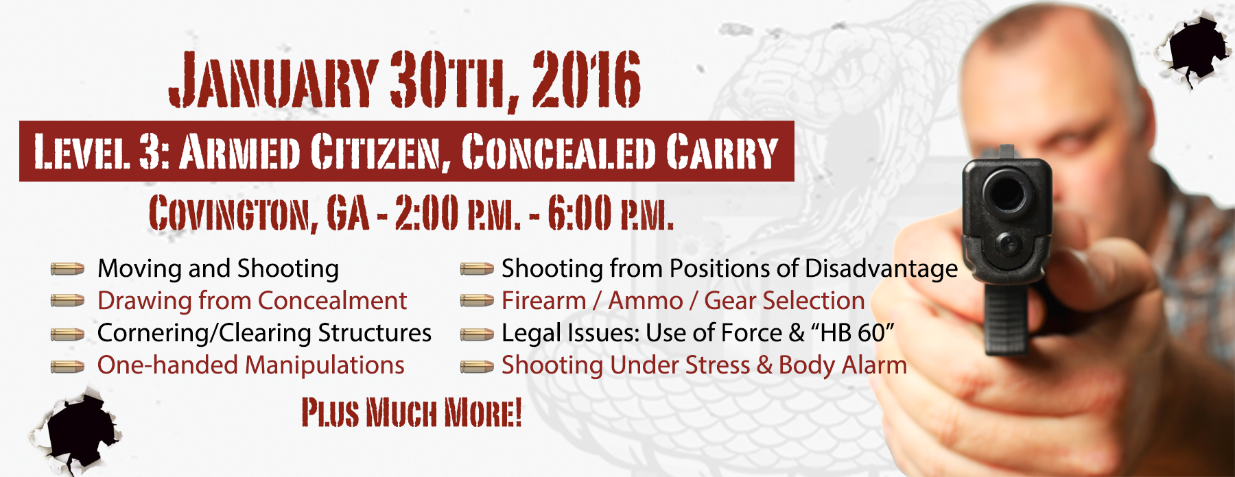 Concealed Carry Handgun Training - Atlanta Georgia