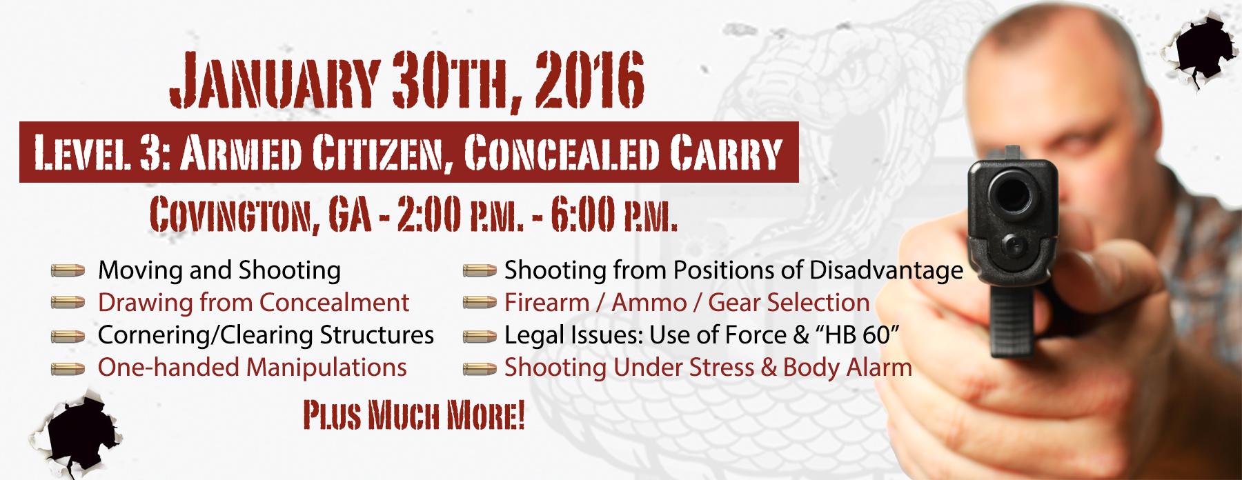 Concealed Carry Handgun Training - Atlanta Georgia