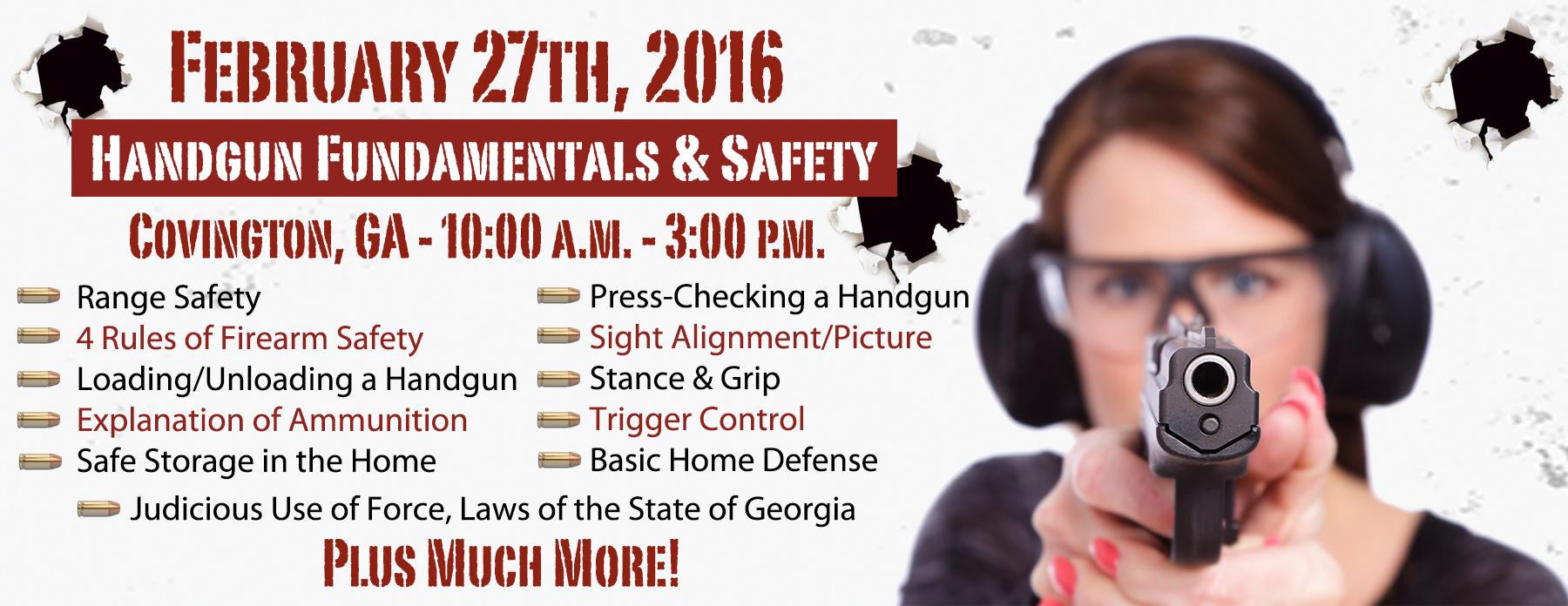 Basic Handgun Training - Atlanta Georgia