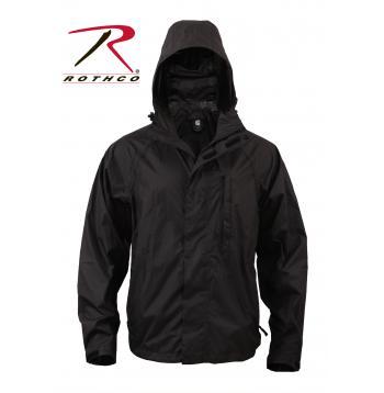 Black Rain Jacket With Hood - Best Jacket 2017